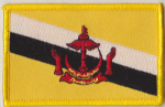 Brunei Embroidered Flag Patch, style 08.